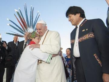 Morales recibe carta en la que el Papa ofrece su servicio a Bolivia