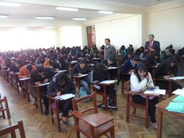 Alumnos rindieron examen de ingreso a la UATF ayer