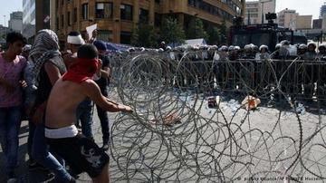 Al menos 70 heridos en Beirut en protestas contra el Gobierno