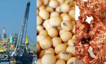 Según analistas los precios  de las materias primas se desmoronan