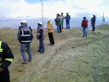 Se monitorean los trabajos de relleno del Cerro Rico