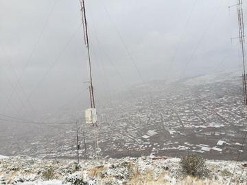 Potosí amanece cubierta de nieve