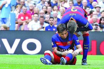 Lionel Messi sufre rotura de ligamento