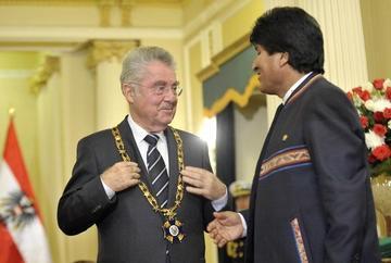 Primer presidente europeo visita Bolivia en nueve años de gobierno de Morales