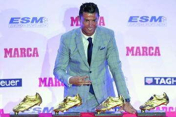 Cristiano recibe su cuarta Bota de Oro