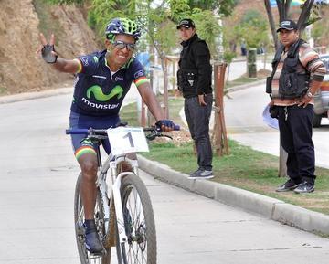 Oscar Soliz ganó la Copa Bolivia de bicimontaña