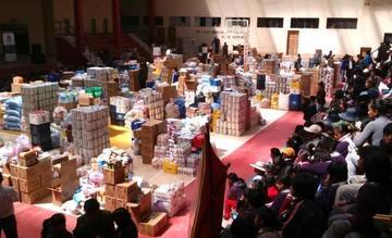 Entregan productos de subsidio a centros de acogida en Potosí