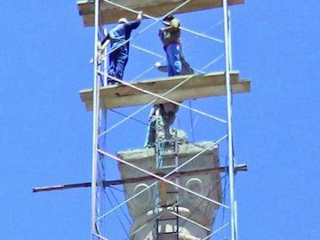 Bandera potosina del obelisco será sustituida por monumento