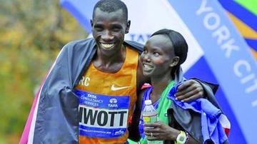 Kenianos dominan en la maratón de Nueva York
