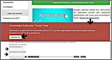 Los preuniversitarios en la UATF iniciarán este 30 de noviembre