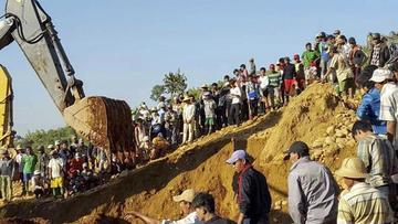 Avalancha de tierra en mina deja 91 fallecidos en el norte de Birmania