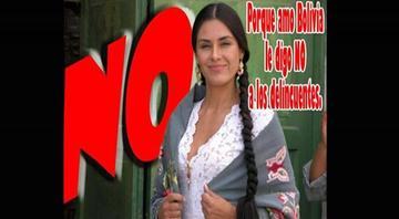 La actriz Carla Ortiz se molesta por el uso de su foto en campaña por el No