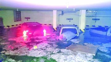 Un fuerte granizo ocasiona incidentes en la capital