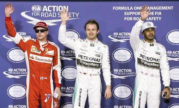 """Rosberg gana la """"pole"""" en el Gran Premio de Abu Dabi"""