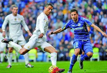 Real Madrid logra una goleada ante Getafe