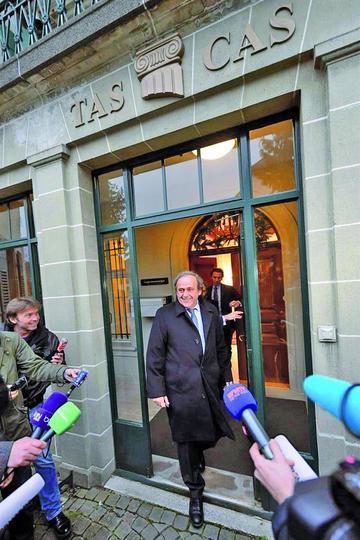 El TAS mantiene la suspensión a Platini