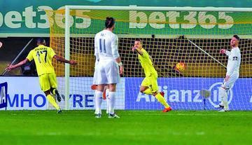 Villarreal gana por la mínima diferencia a Real