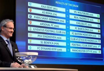 La UEFA sortea los cruces de los octavos de la Champions