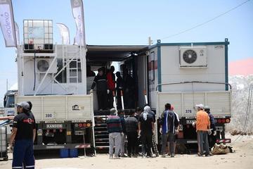 Instalan el vivac para los pilotos del Dakar