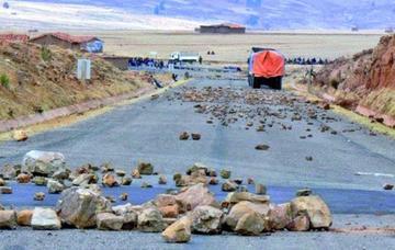 Bloquearon los caminos del área rural del Departamento