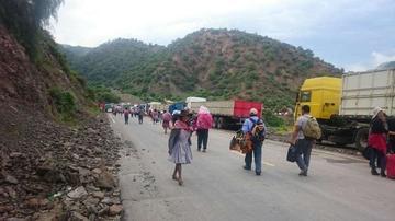 Las carreteras en Potosí están expeditas excepto hacia Sucre