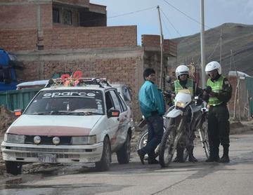 Infractores pagarán multas de 414 y 8.280 Bolivianos