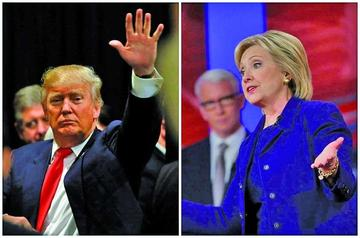 Clinton y Trump se proyectan como ganadores en consultas