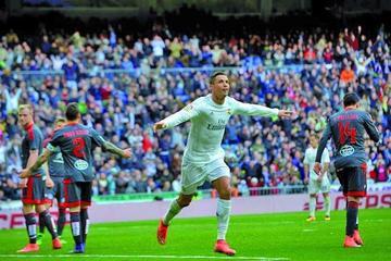 Real Madrid golea al Celta