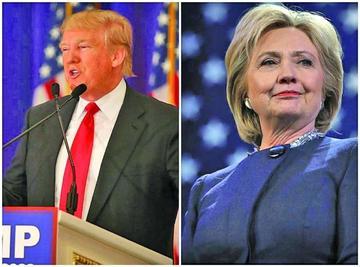 Trump se afianza en primarias y Clinton aún no puede lograrlo