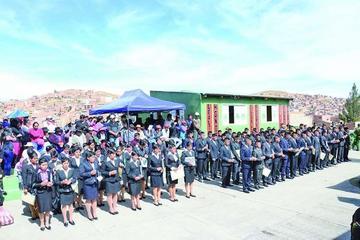 Comibol cede predios para la Escuela Básica Policial
