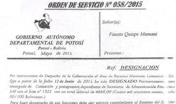 Denuncian al presunto autor de la venta de un cargo en la Gobernación