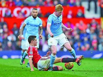 El domingo se jugará el derbi de Manchester