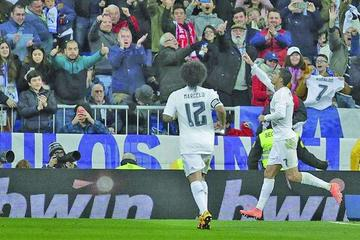 Real Madrid golea al Sevilla