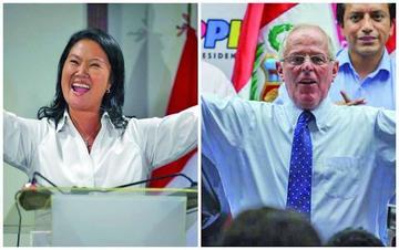 Fujimori y Kuczynski se miden  en la segunda vuelta el 5 junio