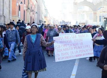 Manifestación a favor de la Intendencia