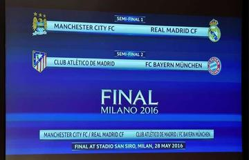 El City-Real Madrid y Atlético-Bayern se miden en semifinales