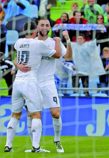 Real Madrid golea a Getafe