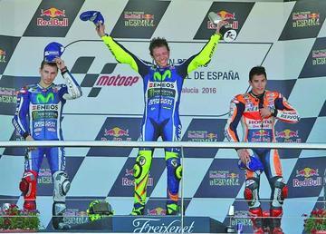 Rossi gana con autoridad el Gran Premio de España