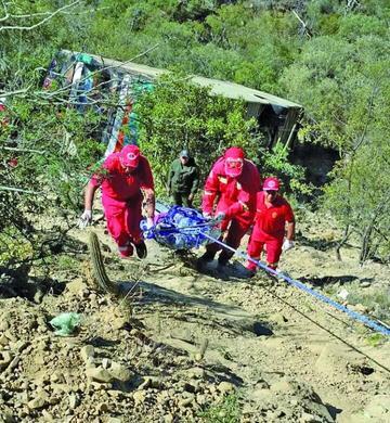 Hay 16 heridos de Tupiza en la lista de accidente de Comarapa