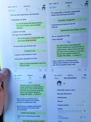 Difunden otros mensajes entre Quintana y la exnovia de Morales
