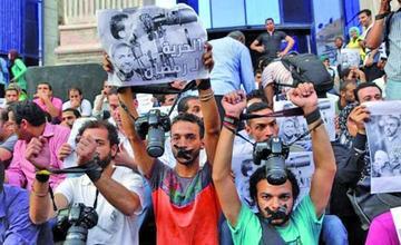 Detienen la cúpula directiva de los Periodistas de Egipto
