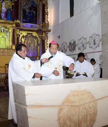 Con misa reabren el templo de Concepción