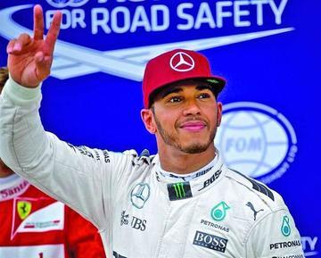 """Hamilton logra su cuarta """"pole"""" del año"""