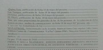 La Asociación de la Prensa exige a juez respeto a la Ley de Imprenta