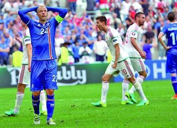 Islandia con un gol en propia puerta empata ante Hungría