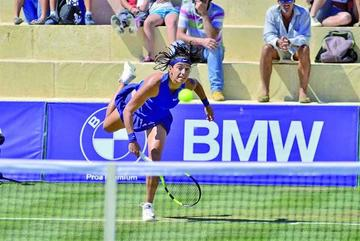 García reina en la hierba de Mallorca tras vencer a Sevastova