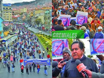 Gremiales ratifican una marcha desde Oruro a la sede de Gobierno