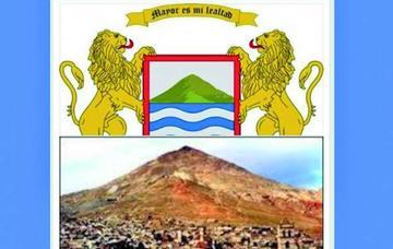 El escudo de Arica lleva el Cerro Rico