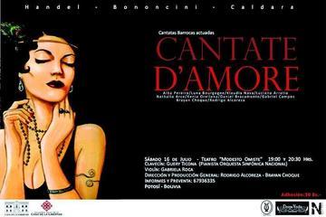 La obra Cantate D'amore se mostrará mañana sábado en el Modesto Omiste