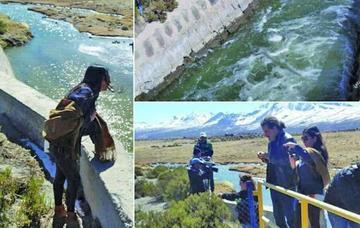 """Delegación boliviana constata el desvío """"unilateral"""" del río Lauca"""